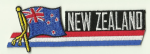 New Zealand Embroidered Flag Patch, style 01.